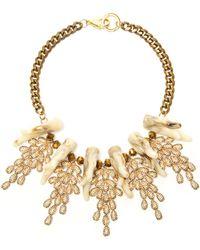 Fenton - Coral Weeping Collar Necklace - Lyst