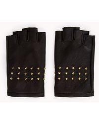Forever 21 Rock n Roll Fingerless Gloves - Black