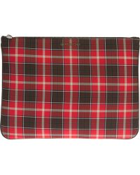 Givenchy Checked Pouch - Red