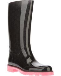 Gucci Edimburg Wellington Boot - Black
