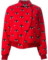 KENZO Eye Print Jacket - Red