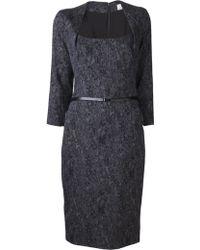 Lela Rose Jacquard Dress - Lyst