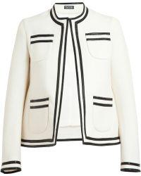 Meadham Kirchhoff Carmen Boucle Wool Box Jacket - White