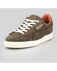 Alexander McQueen X Puma - Amq Suede Laceup Sneaker Gray - Lyst