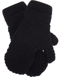 S.N.S Herning - Textured Wool Mittens - Lyst
