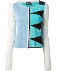 Sonia Rykiel Mixed Knit Sweater - Lyst