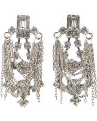 Tom Binns - Crystal and Chain Earrings - Lyst