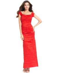 Alex Evenings Off The Shoulder Taffeta Crinkle Gown - Lyst