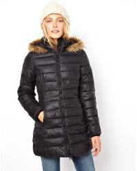 Orla Kiely - Asos Padded Coat with Faux Fur Trim Hood - Lyst