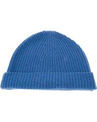 Ballantyne - Ribbed Wool Beanie Hat - Lyst