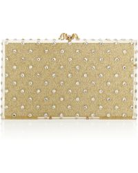 Charlotte Olympia Let It Shine Pandora Embellished Glittered Perspex Box Clutch - Lyst