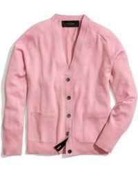 COACH Merino Boyfriend Cardigan - Pink