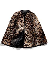 COACH Jaguar Print Cape - Brown