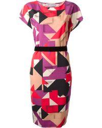 Frankie Morello Geometric Print Dress - Lyst