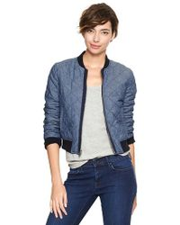 Gap Quilted Varsity Jacket - Blue