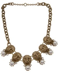 Gerard Yosca - Dangling Lion Medallion Necklace - Lyst
