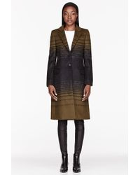 Jonathan Saunders - Olive Green Gradient Stripe Athena Coat - Lyst