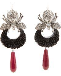 Katerina Psoma - Bumble Bee Diamantee Pendant Earings - Lyst