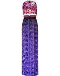 Mary Katrantzou Silk Column Gown In Multi - Lyst