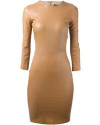 The Row Lambskin Bodycon Dress - Lyst
