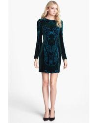 Alexia Admor Burnout Velvet Sheath Dress - Lyst