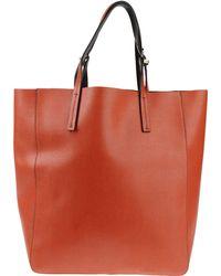 Donatella Lucchi Large Leather Bag - Brown