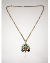 Gerard Yosca Animal Medallion Necklace - Metallic