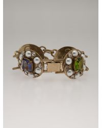 Gerard Yosca - Jewelled Pendant Bracelet - Lyst