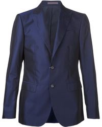 Moschino - Shiny Bue Suit - Lyst