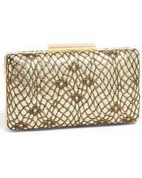 Natasha Couture Snake Sequin Box Clutch - Lyst