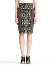 Rachel Roy - Mix Media Pencil Skirt - Lyst