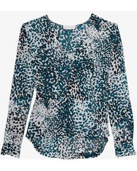 A.L.C. Exclusive Printed Addie Blouse - Lyst