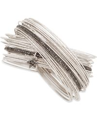 Coomi - Spring Silver Interlocking Bracelet With Diamonds - Lyst
