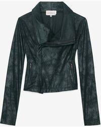 Georgie Exclusive Leatherlike Moto Jacket Green