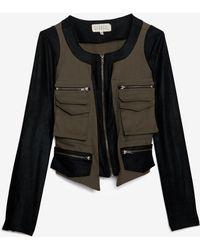 Georgie Exclusive Jasper Combo Army Jacket - Black