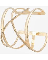 Paige Novick - Overlapping Crystal Band Cuff Bracelet - Lyst