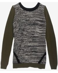Shae - Exclusive Slit Back Marled Sweater - Lyst