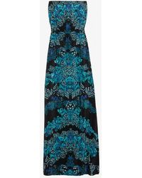 Twelfth Street Cynthia Vincent Exclusive Printed Strapless Maxi Dress - Blue