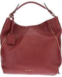 Emporio Armani Slouchy Tote Bag - Red