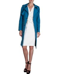 Lanvin Belted Double Breasted Trench Coat - Lyst