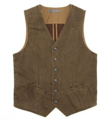 Onassis Clothing Italian Cotton 6 Button Vest - Lyst
