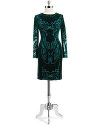 Alexia Admor Velvet Dress Shift Dress - Lyst