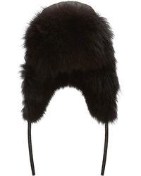 Harrods - Fox Fur Trooper Hat - Lyst