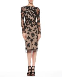 Jason Wu V-Back Sequined Tulle Dress - Lyst