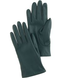 J.Crew Smartphone Leather Gloves - Green