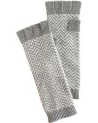 J.Crew Chevron Fingerless Gloves - Grey