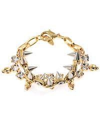 Joomi Lim Crystal Skull and Spike Bracelet