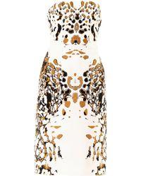 Josh Goot - Leopard Vector Strapless Dress - Lyst