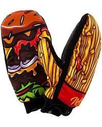 Neff The Burger and Fries Mittens - Yellow
