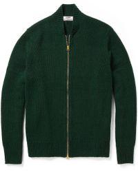 Acne Studios Chet Zip Wool Cardigan - Black
